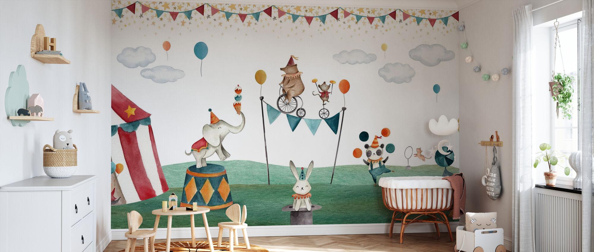 Crazy Circus - Behang - Babykamer