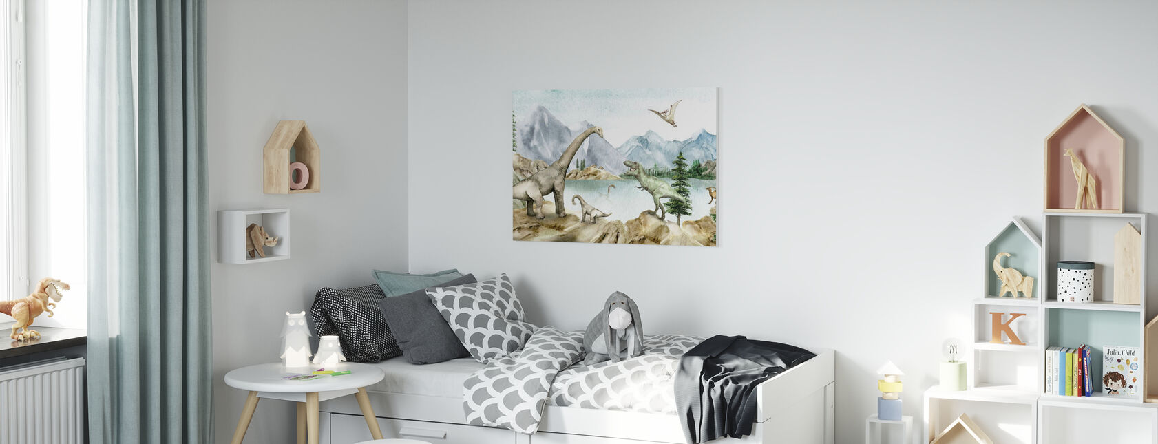Dino Dreams - Canvastavla - Barnrum