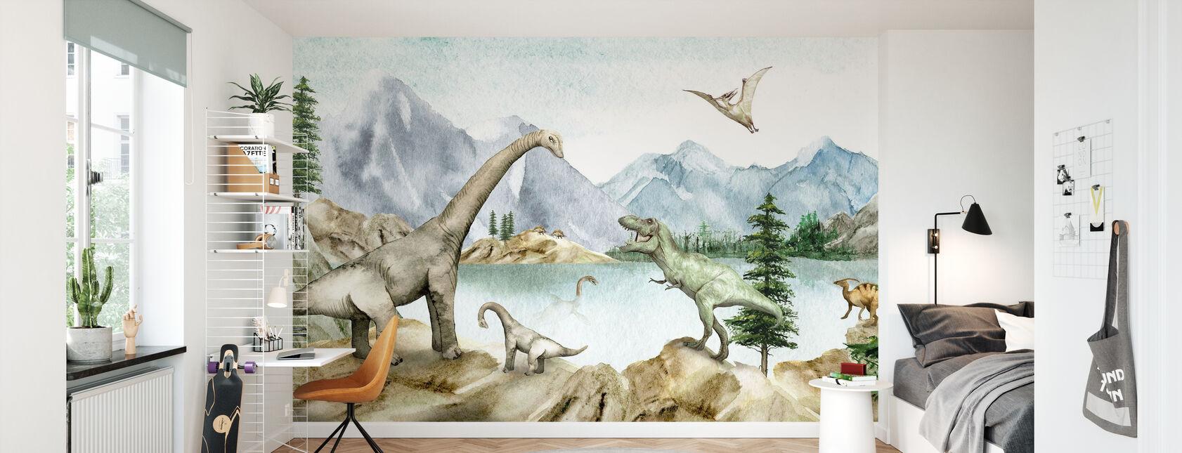 Dino Drømmer - Tapet - Barnerom