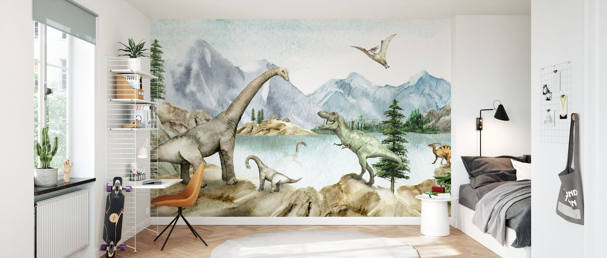Dino Dreams - Wallpaper - Kids Room