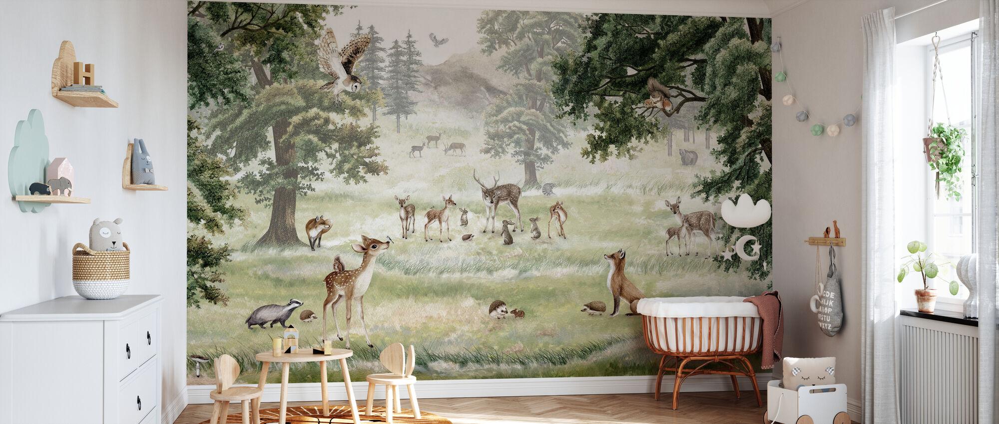 Forrest Fun - Wallpaper - Nursery