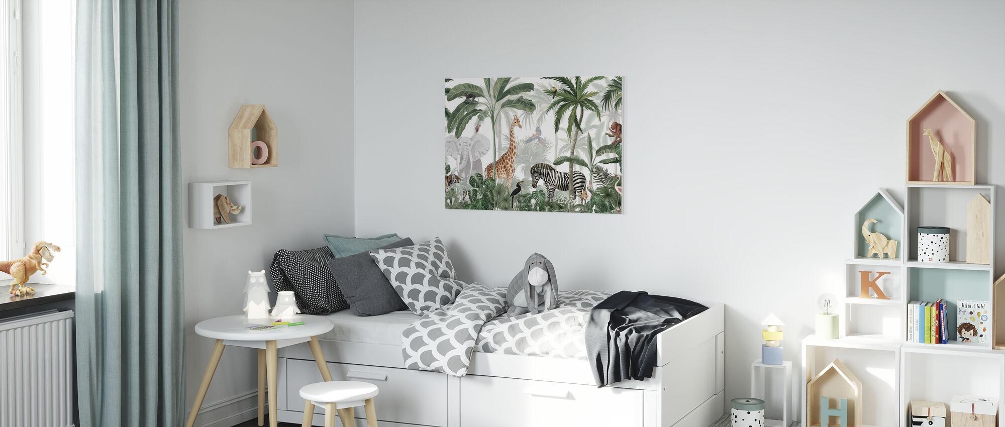 Jungle Jive - Impression sur toile - Chambre des enfants