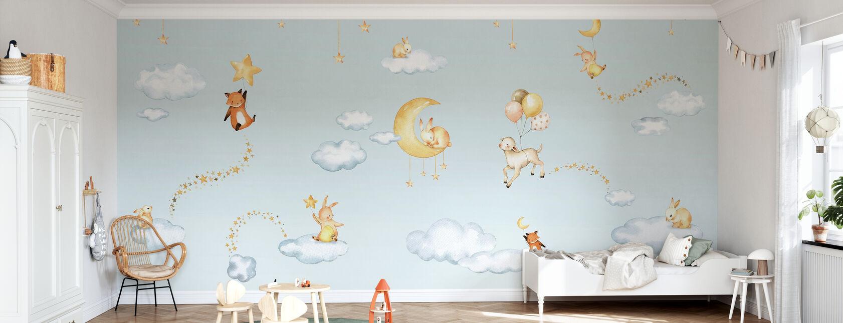 Sweet Dreams - Bleu - Papier peint - Chambre des enfants