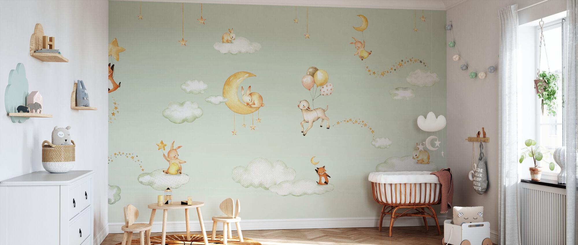 Sweet Dreams - Groen - Behang - Babykamer