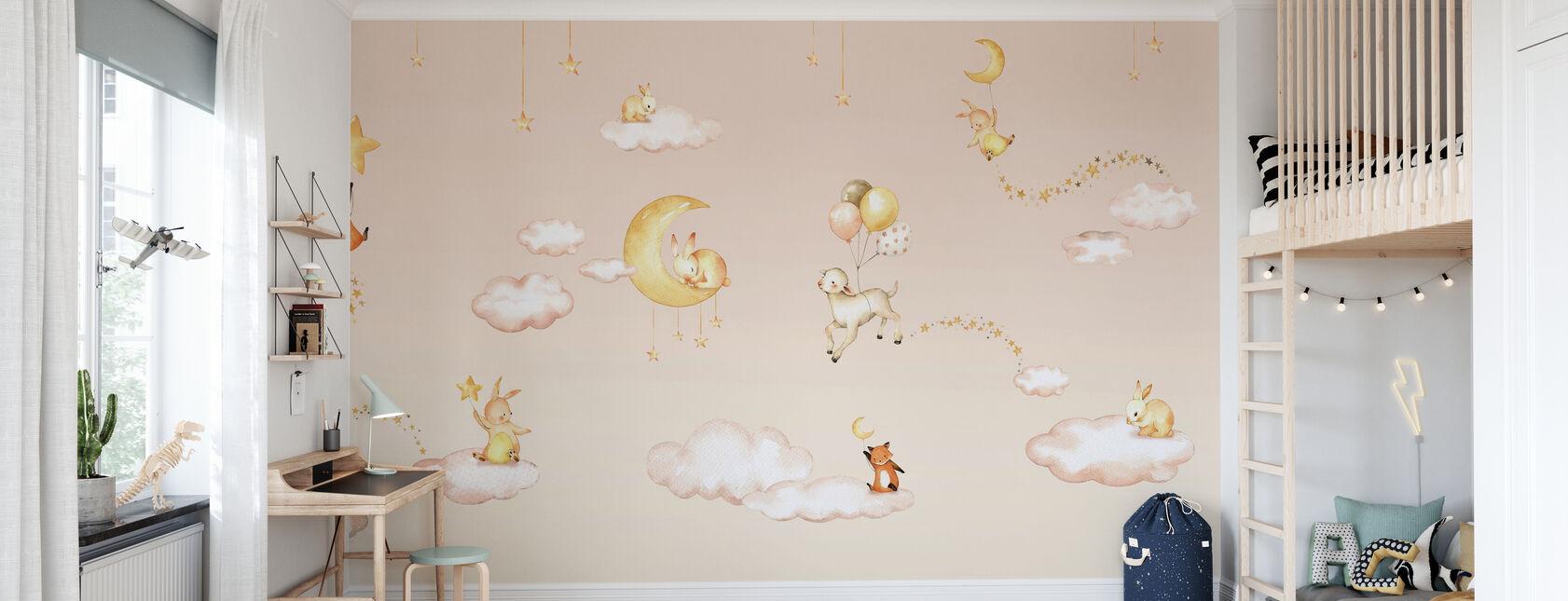 Søte drømmer - rosa - Tapet - Barnerom