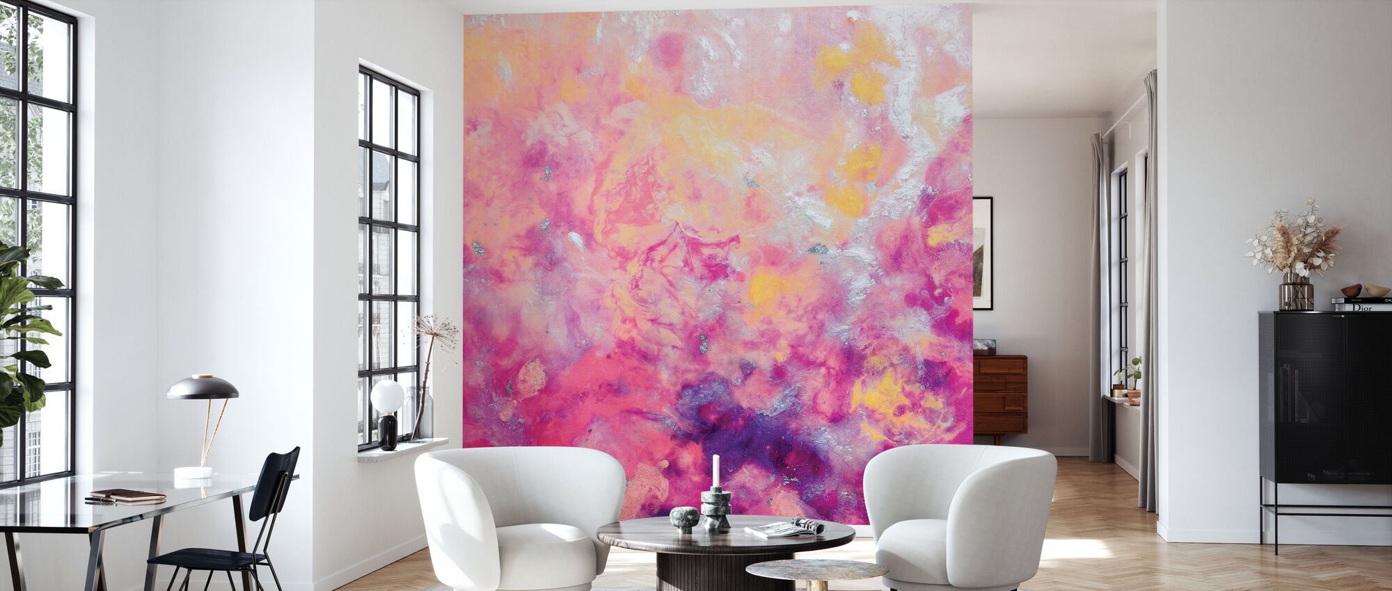 Gentle Flames - Wallpaper - Living Room