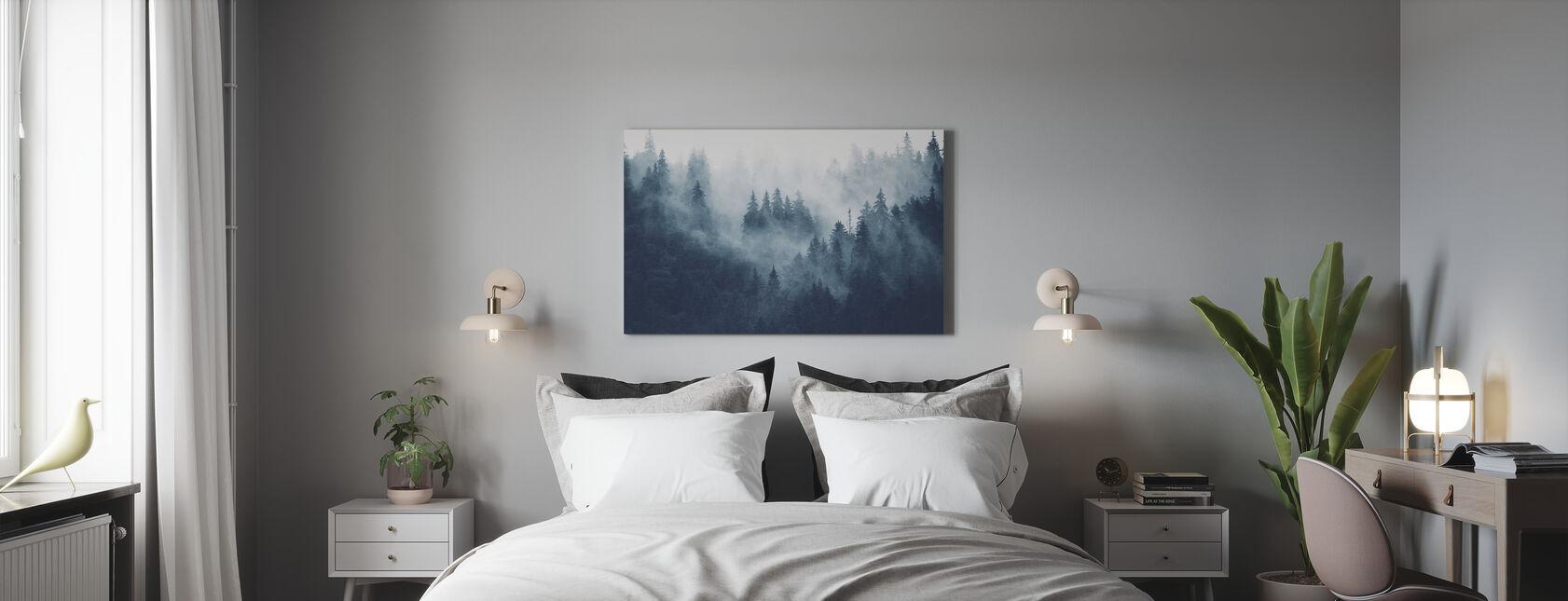 Forêt brumeuse - Bleu - Impression sur toile - Chambre