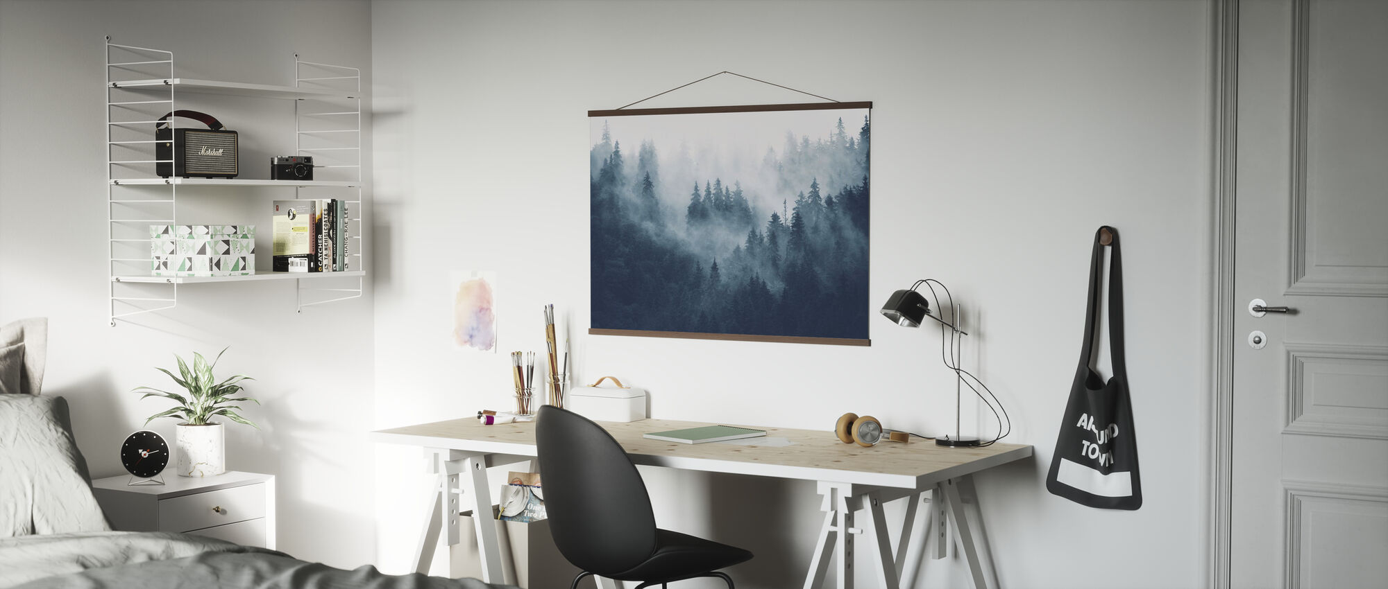 Foggy Forest - Blue - Poster - Office