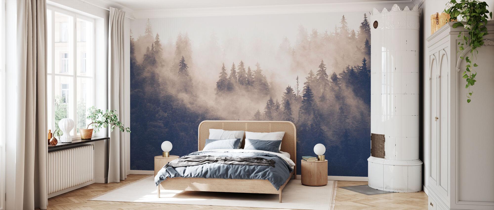 Foggy Forest - Vintage - Wallpaper - Bedroom