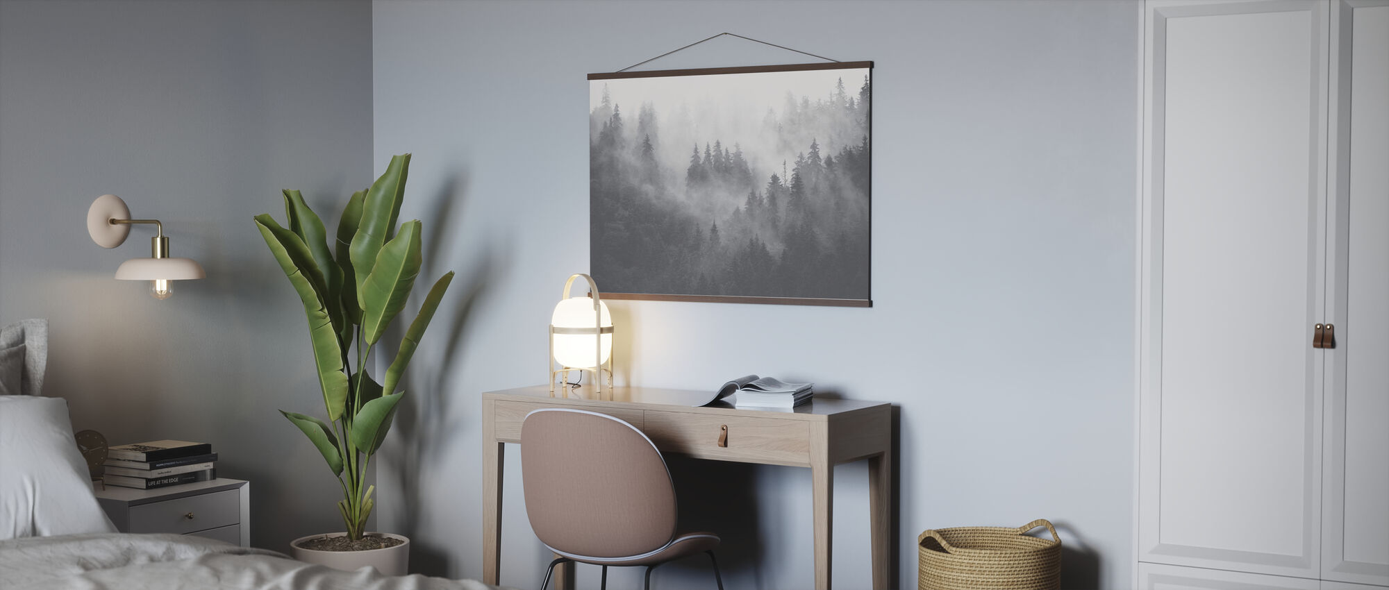 Foggy Forest - Grey - Poster - Office