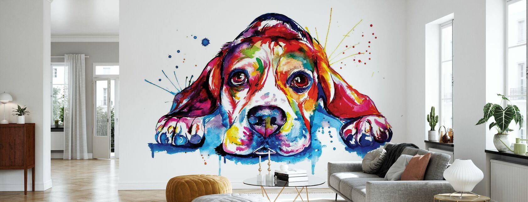 Beagle - Carta da parati - Salotto