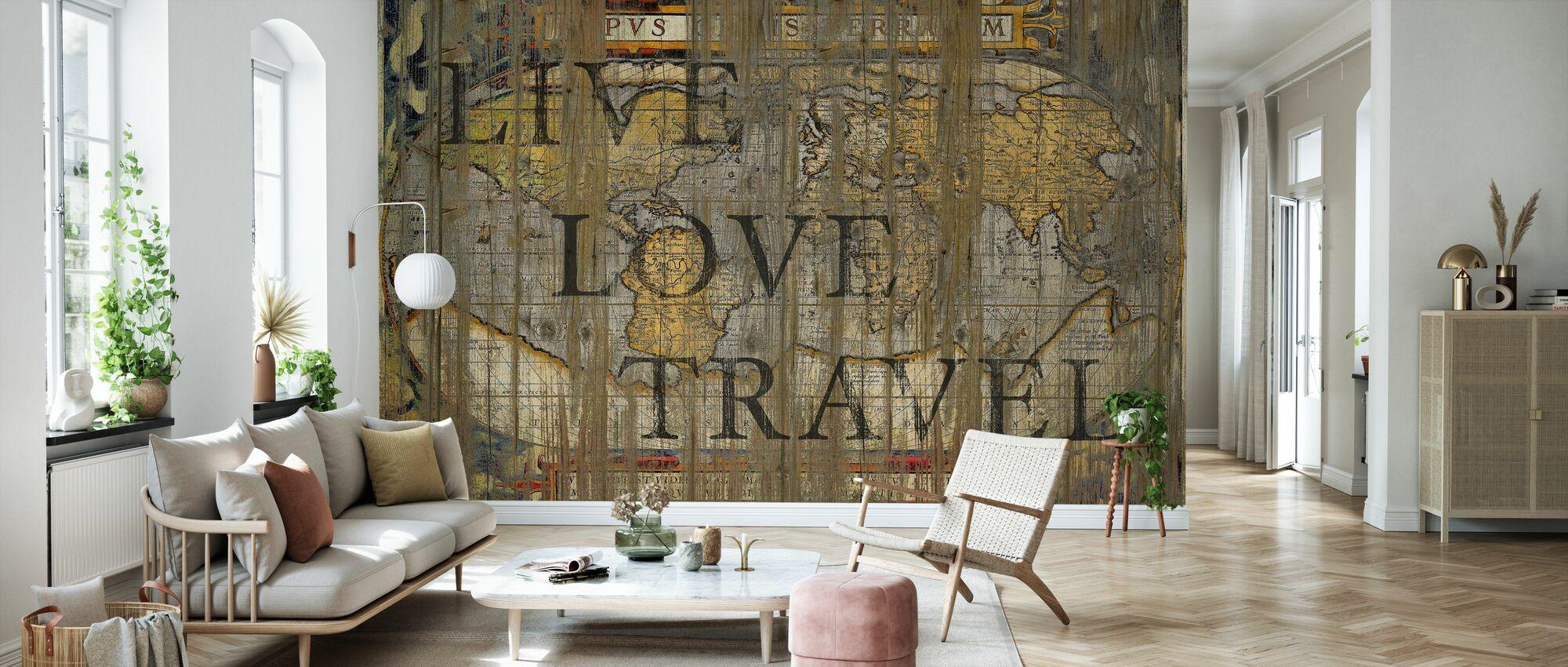 Live-Liebes-Reisen - Tapete - Wohnzimmer