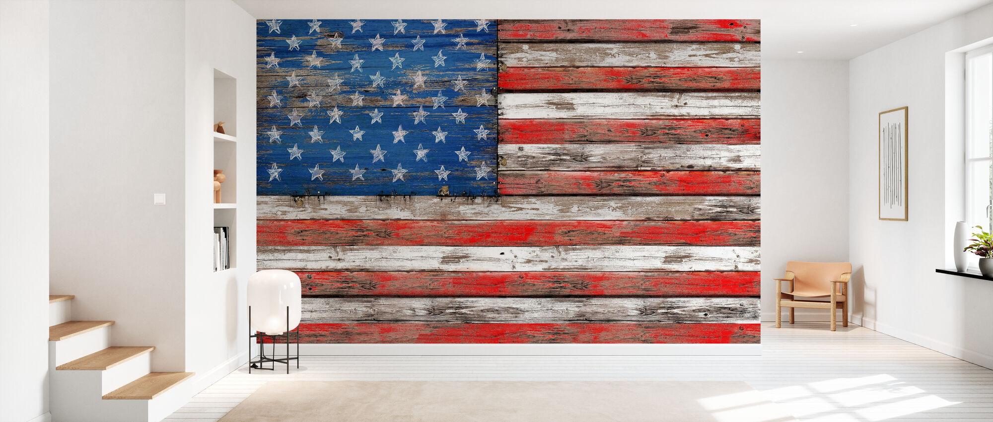 USA Vintage Wood - Wallpaper - Hallway