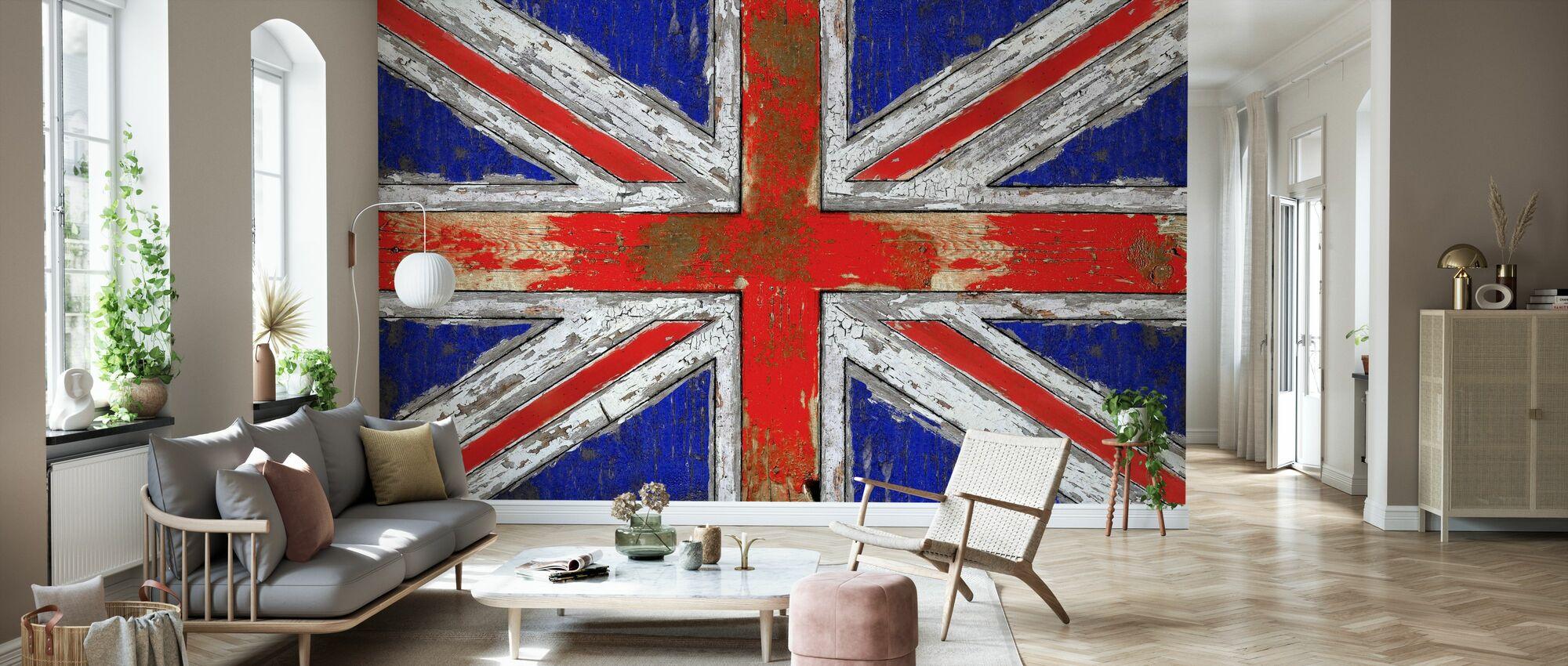 UK Vintage Wood - Tapetti - Olohuone