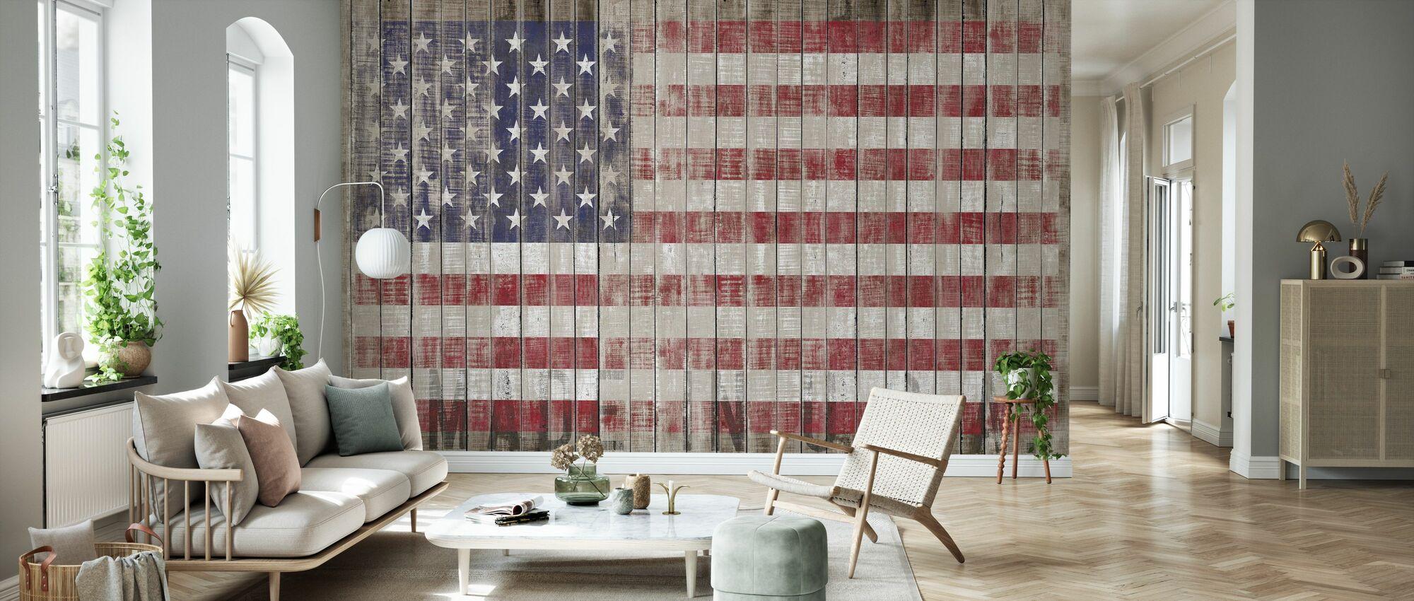 American Flag - Wallpaper - Living Room