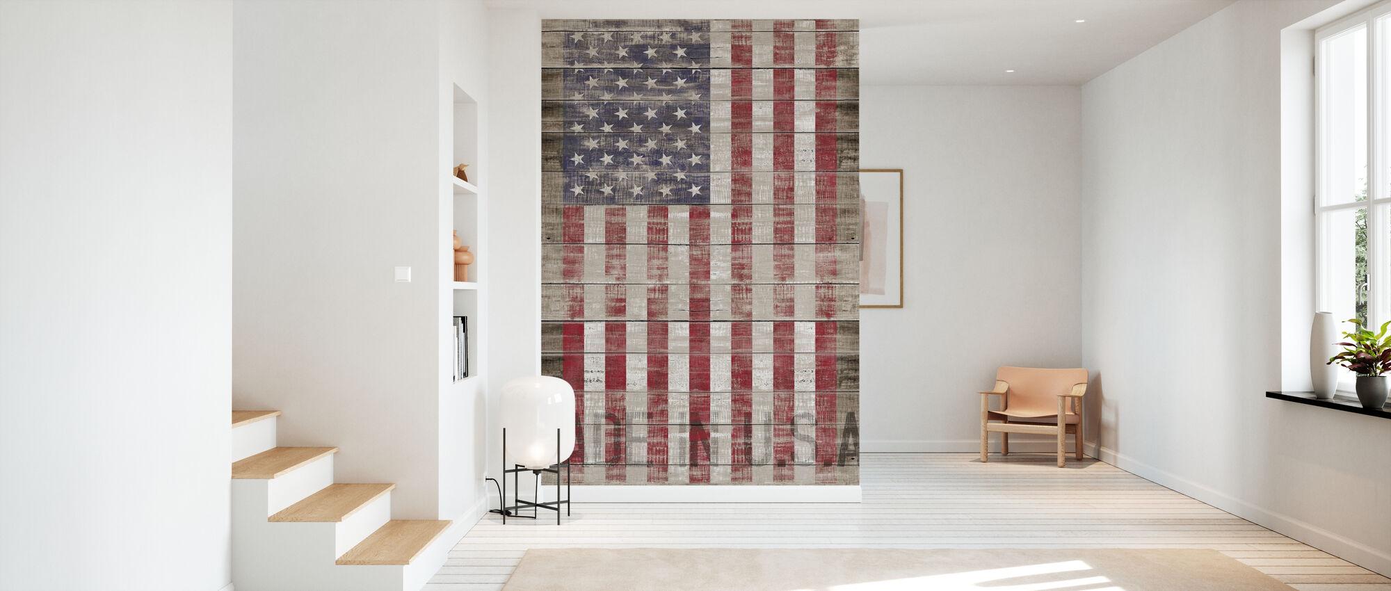 Amerikanische Flagge - Tapete - Flur