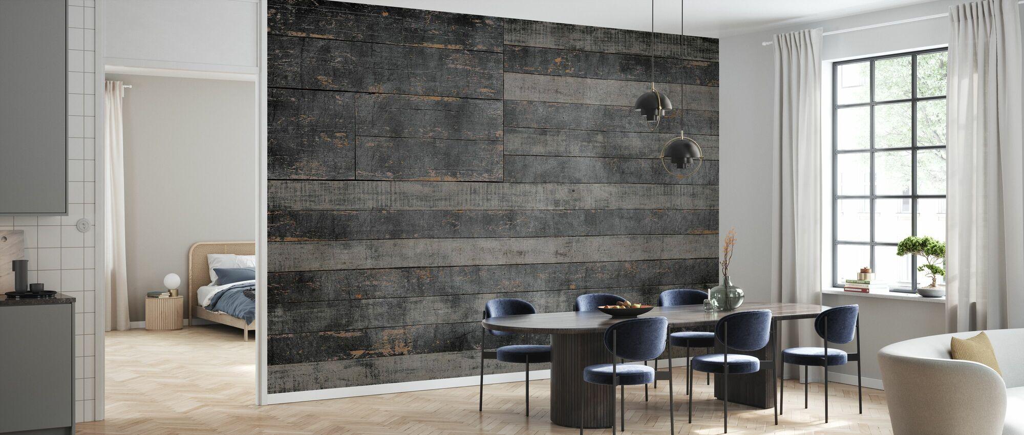 Stars and Stripes in Black - Wallpaper - Kitchen