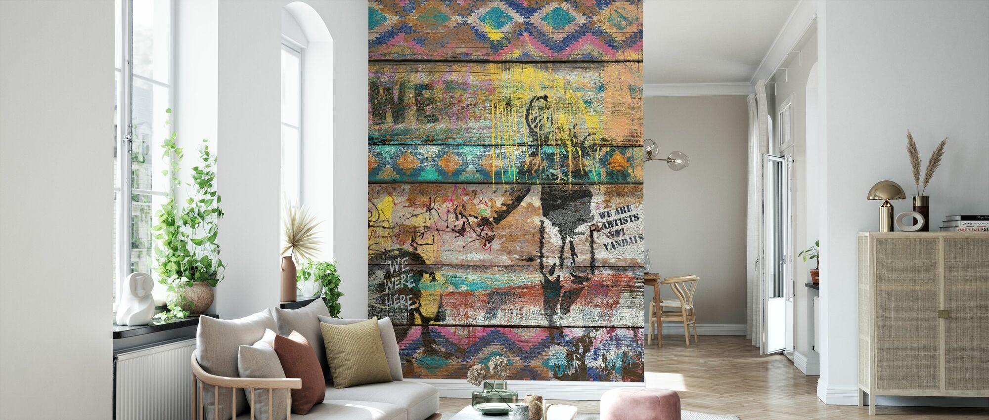 Kunst ist kein Verbrechen - Tapete - Wohnzimmer