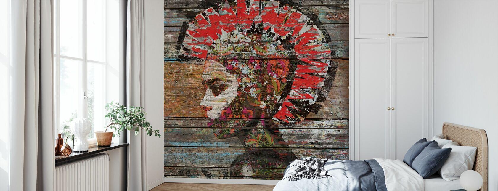 Wild Nature - Profile of Woman - Wallpaper - Bedroom