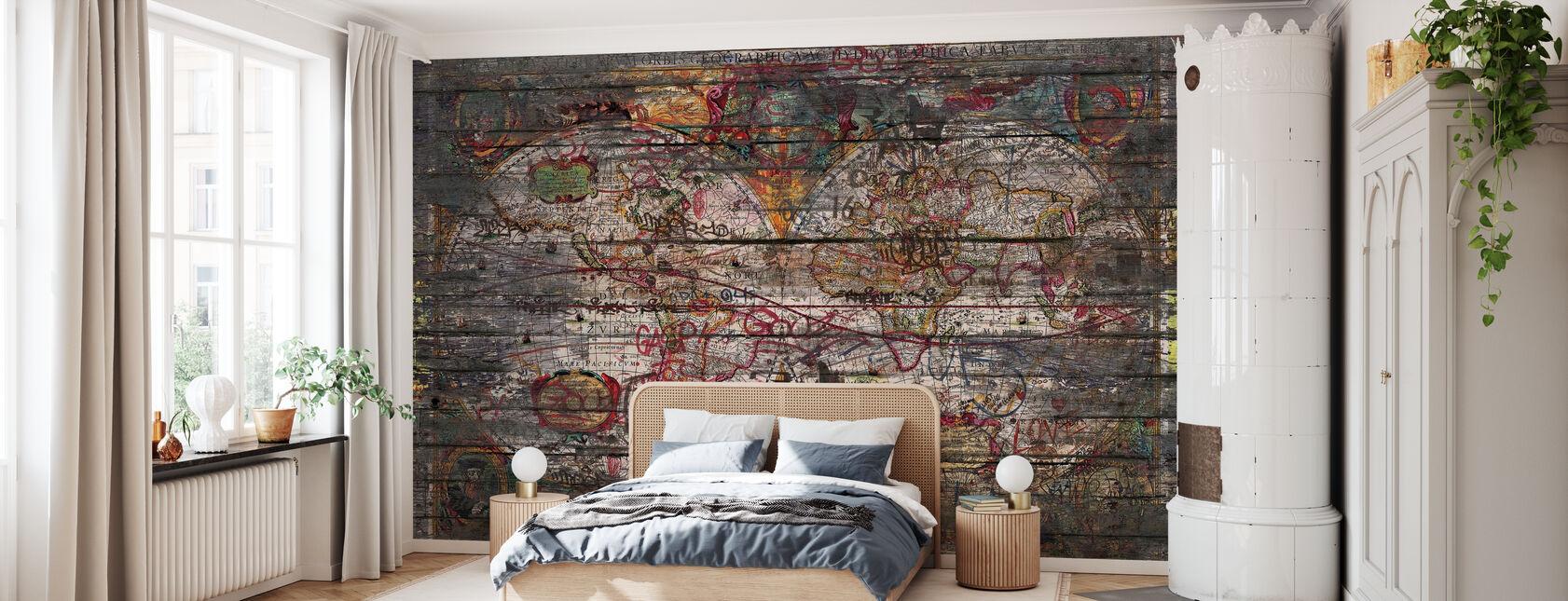 Alte Landkarte - Tapete - Schlafzimmer
