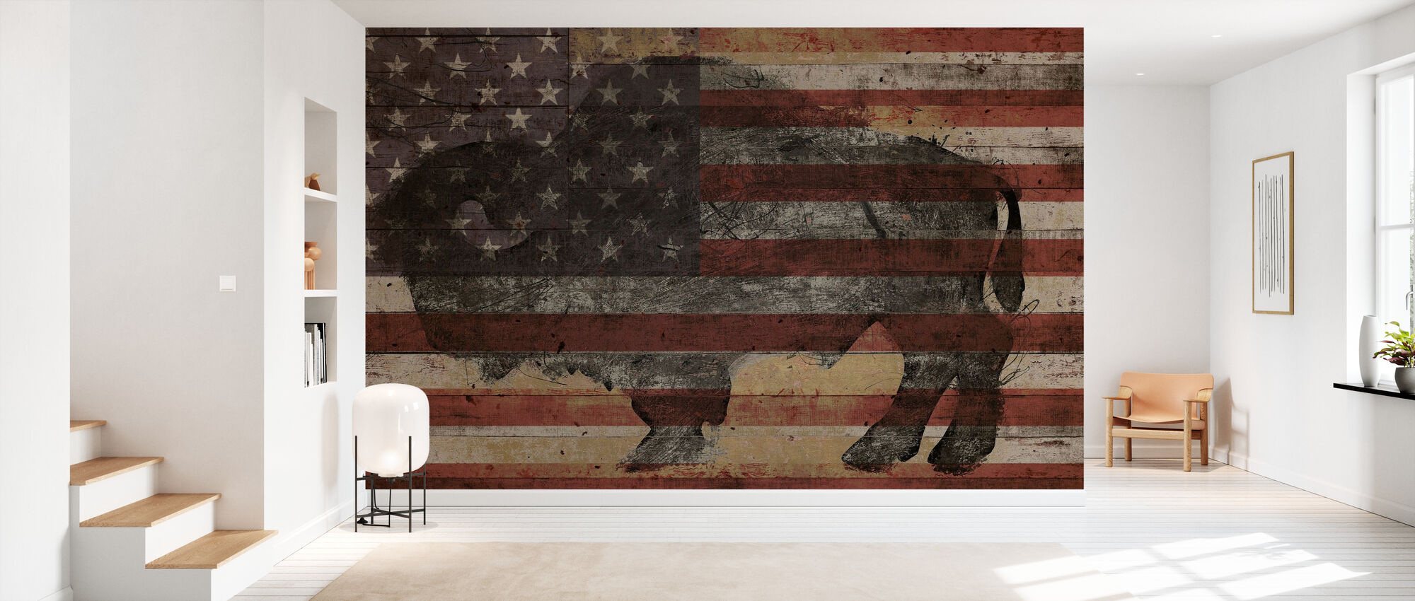 American Bison - Wallpaper - Hallway