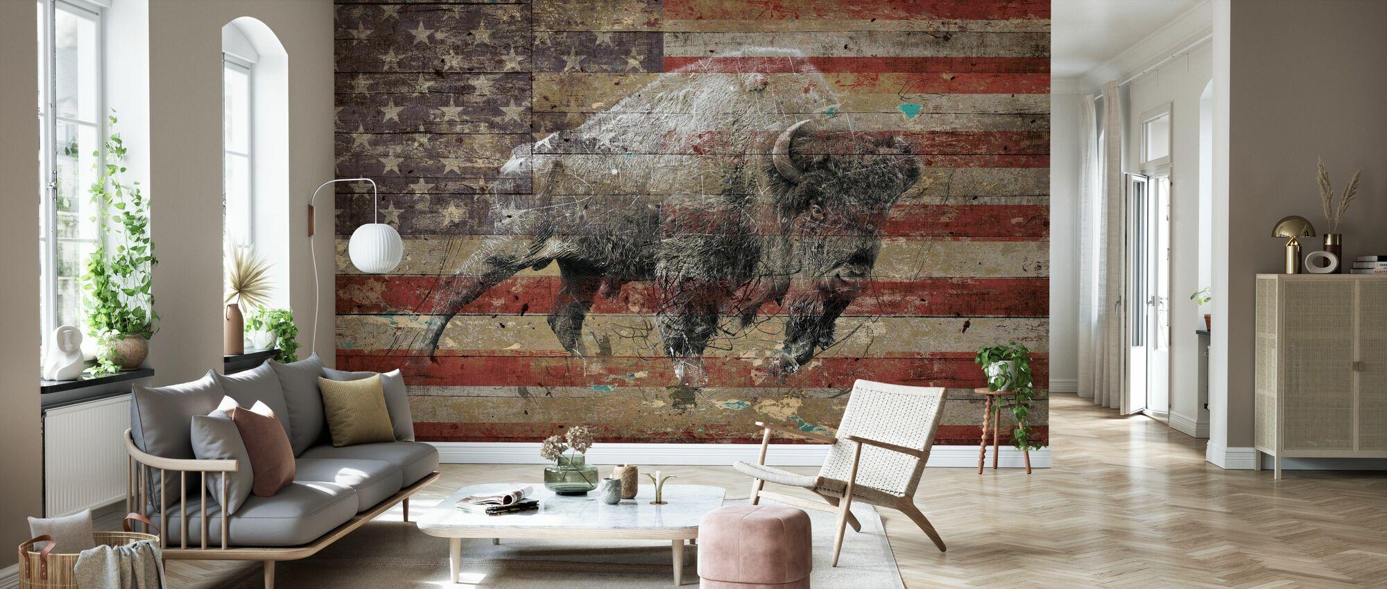 American Bison II - Wallpaper - Living Room