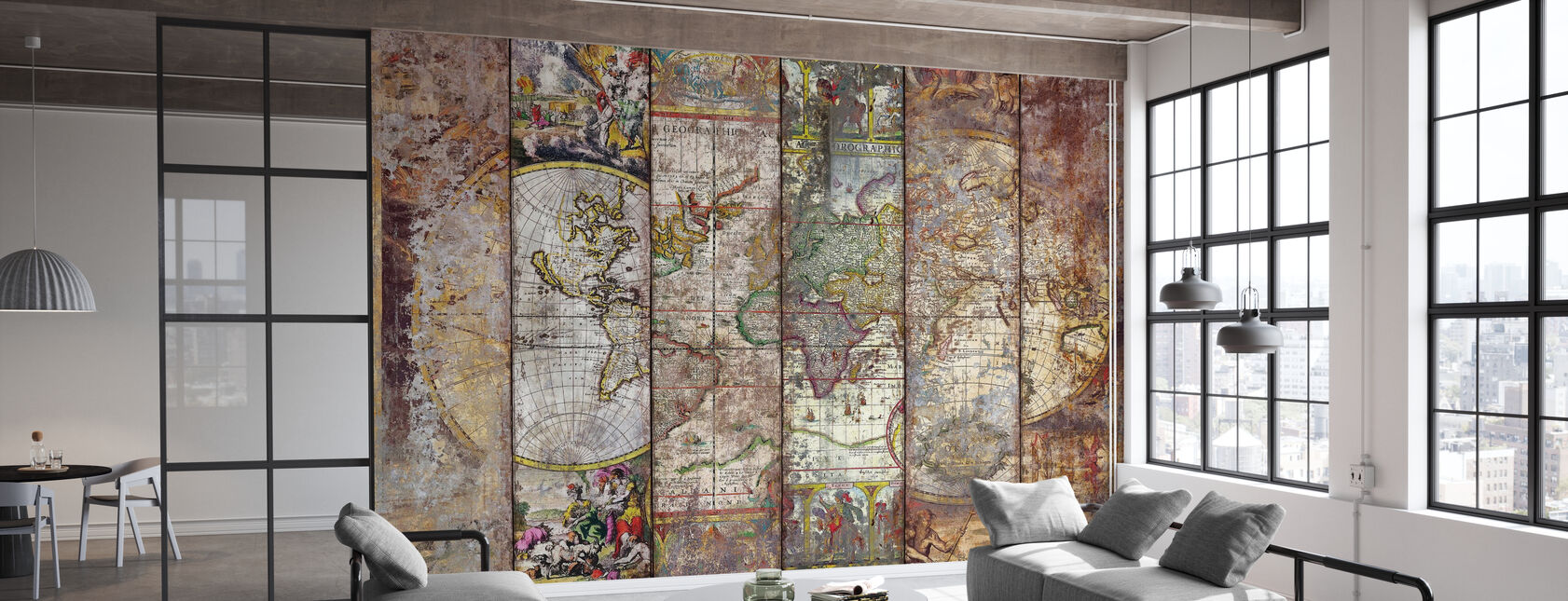 Old Times World Map - Wallpaper - Office