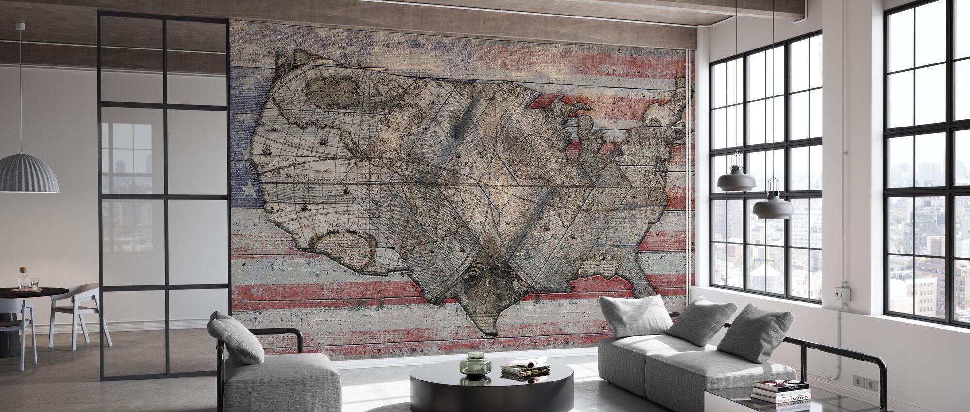 USA Map - Forever - Wallpaper - Office