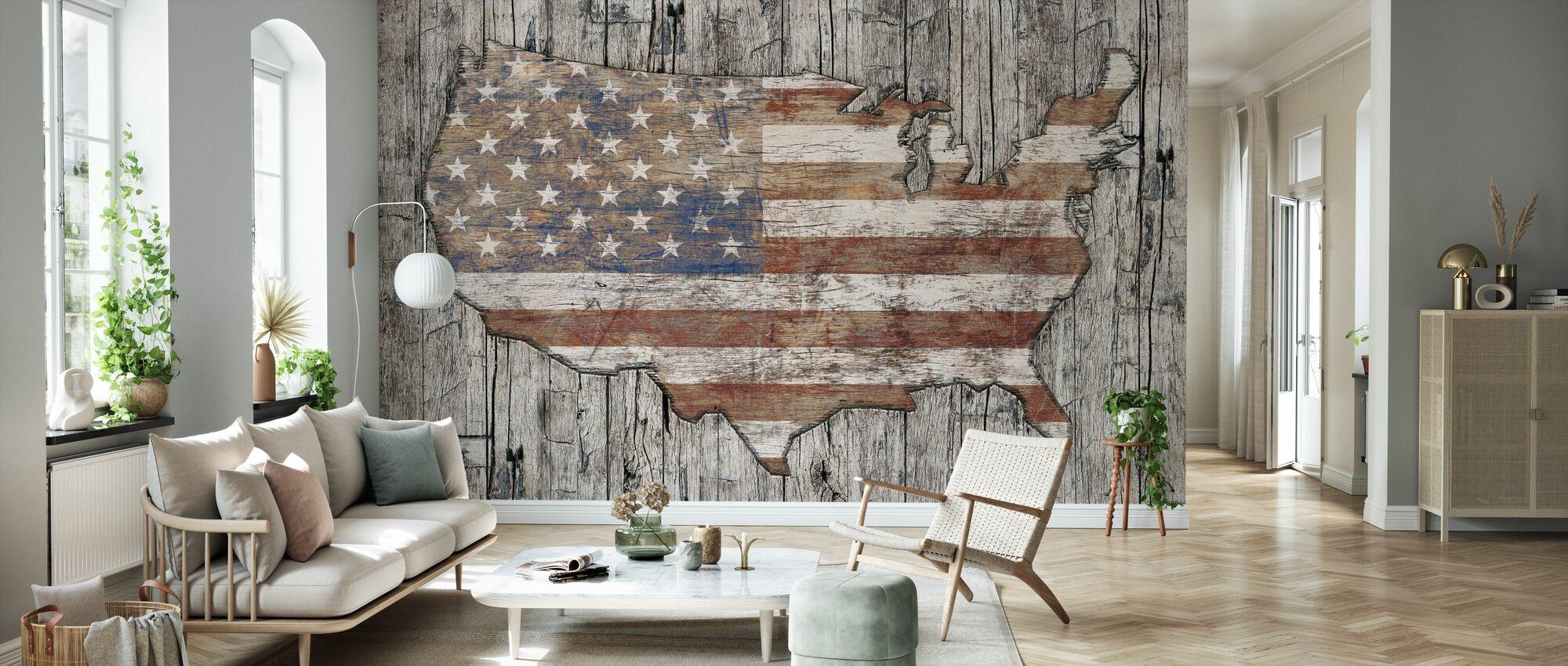 USA Map - Life - Wallpaper - Living Room