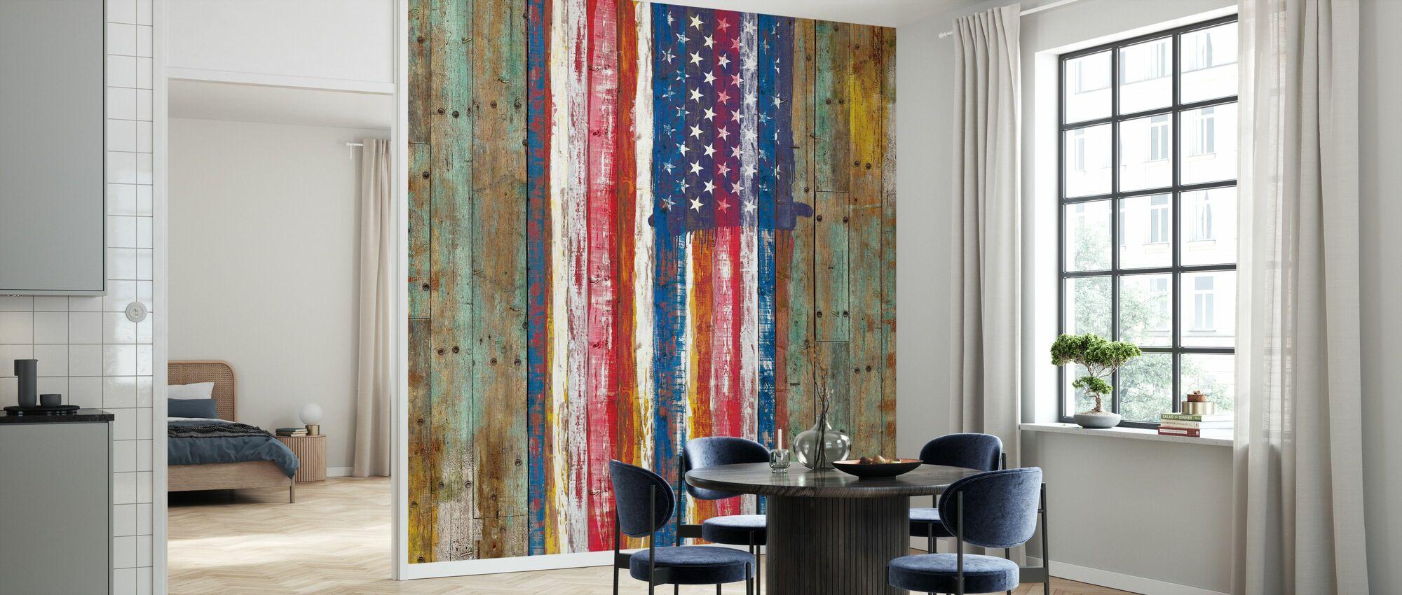 Nostalgic American Flag - Wallpaper - Kitchen
