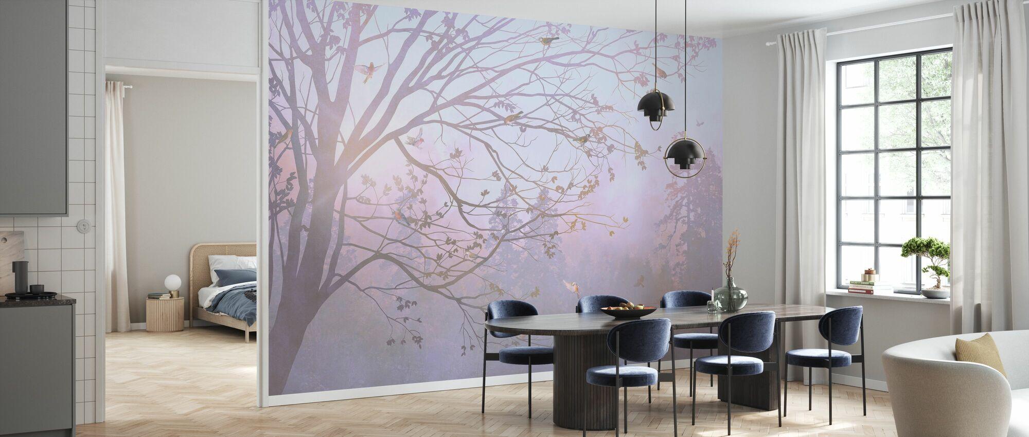 Illuminated Tree II - Wallpaper - Kitchen