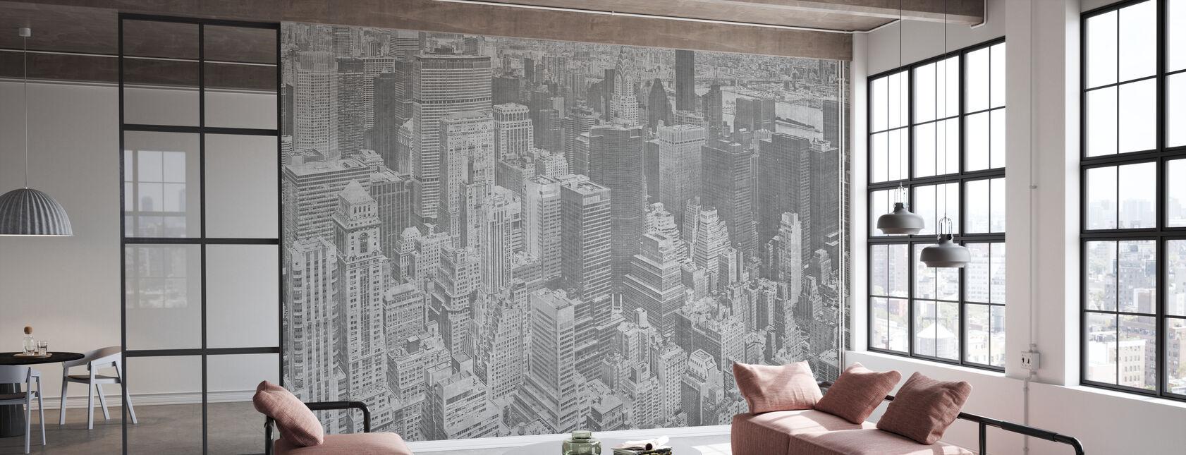 Manhattan View - Ash - Wallpaper - Office