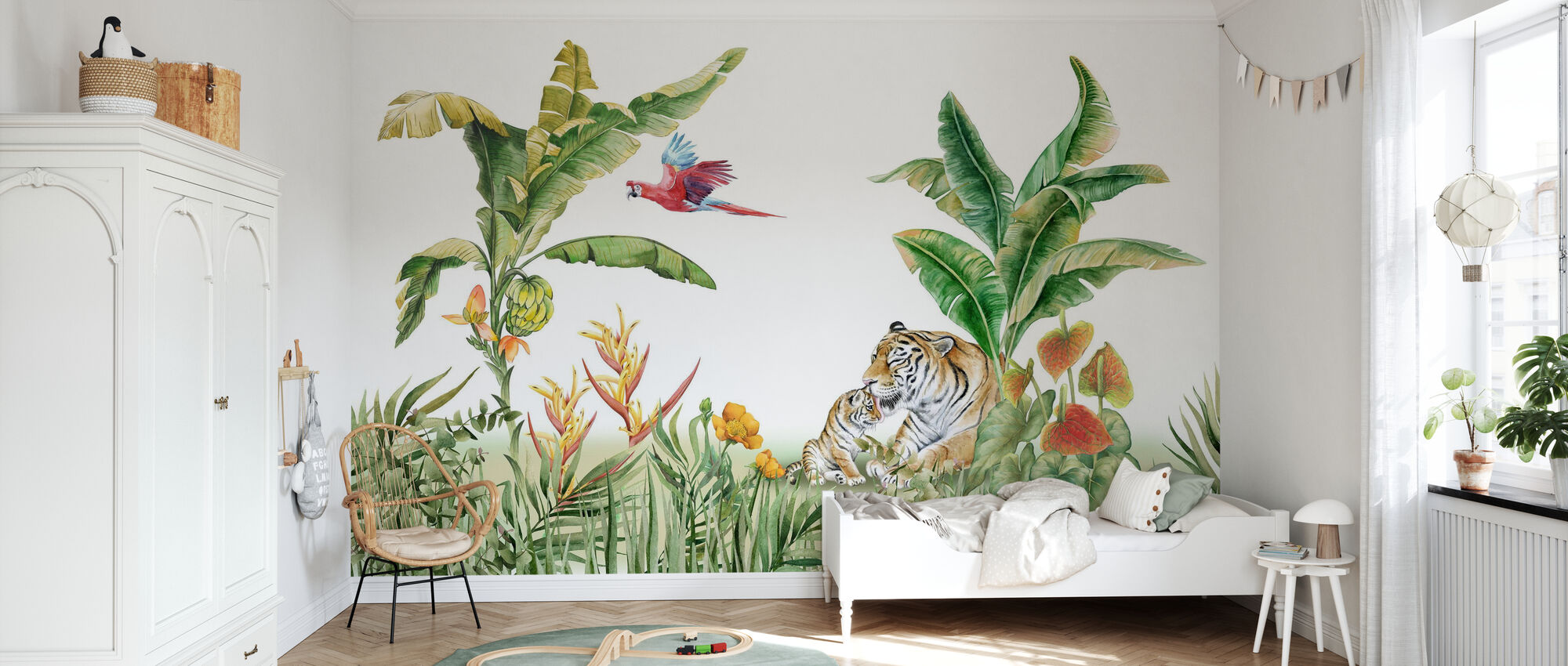 Relaxing in the Sun - Bright - Wallpaper - Kids Room