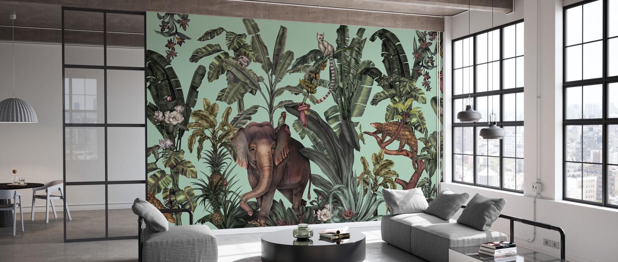 Jungle Kingdom - Verde Chiaro - Carta da parati - Uffici