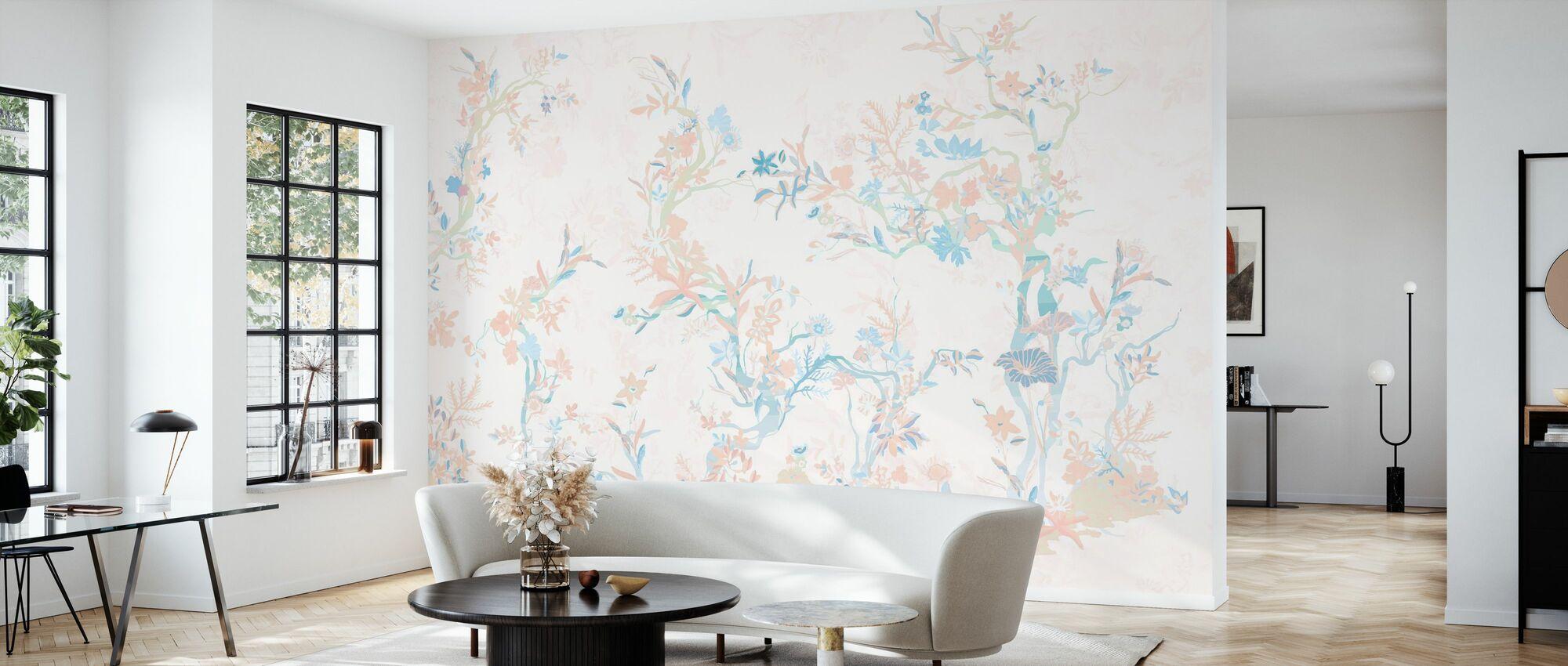 Asiatischer Garten - Tapete - Wohnzimmer