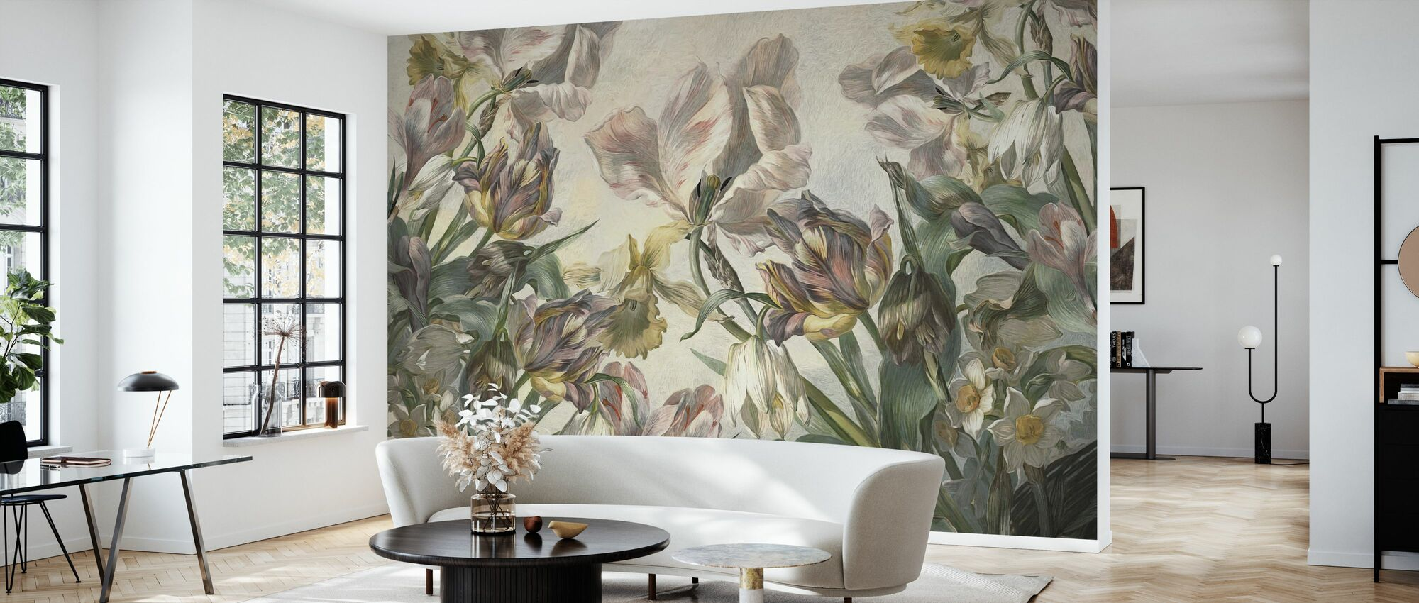 Bohemian Tulips - Wallpaper - Living Room