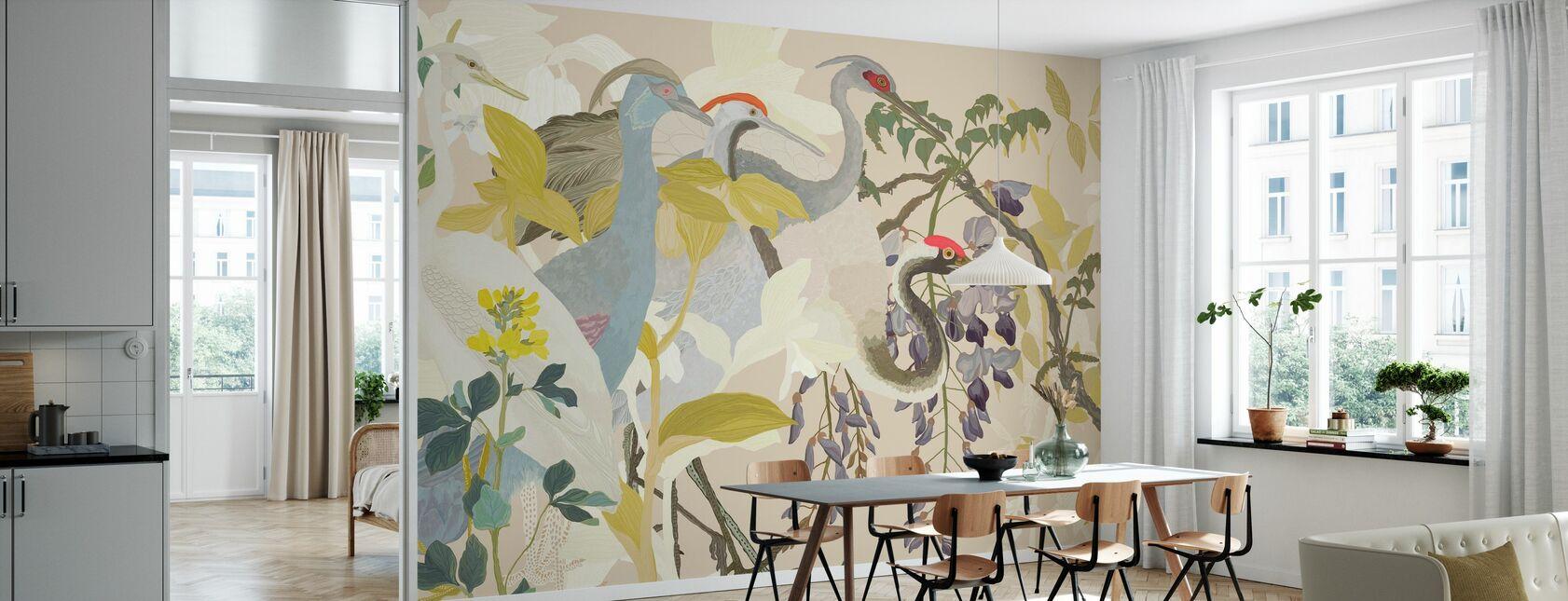 Curious Cranes II - Wallpaper - Kitchen