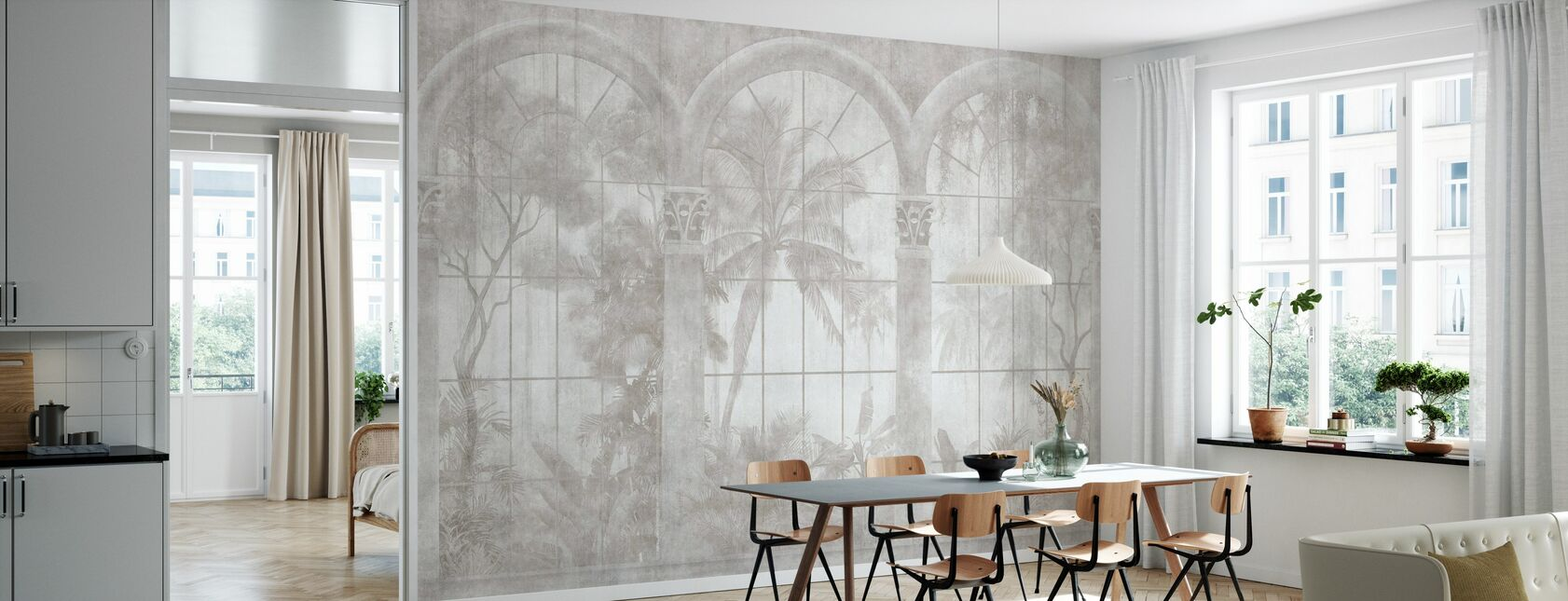 Delicate View - Wallpaper - Kitchen