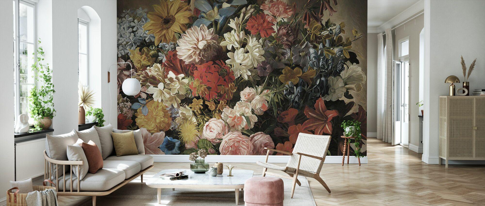 Le Grand Bouquet - Bright - Wallpaper - Living Room
