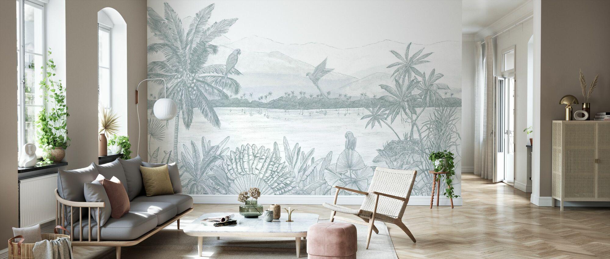 Parrots Home - Wallpaper - Living Room