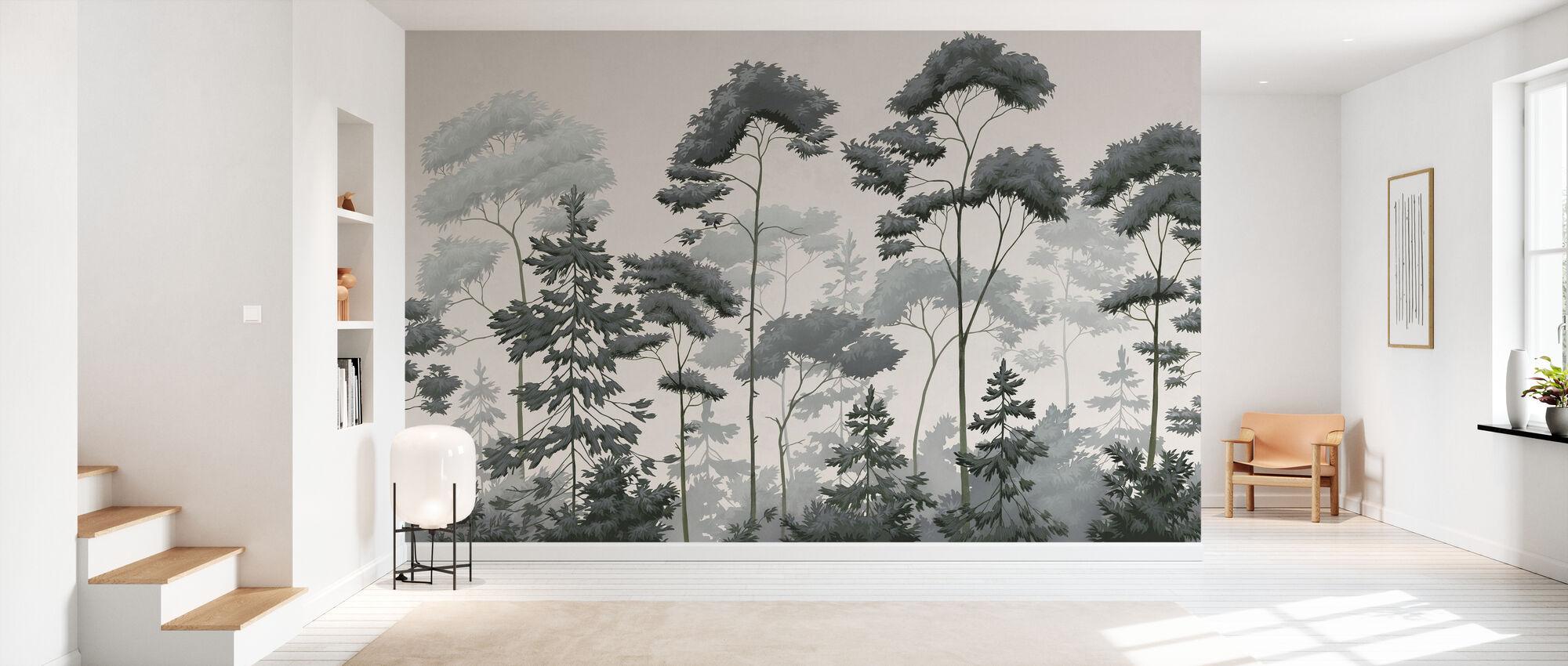 Scandinavian Woodland - Ash Green - Wallpaper - Hallway