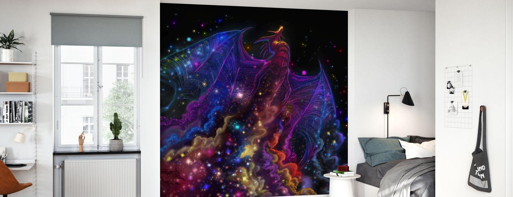 Galaxy Drage - Tapet - Barnerom