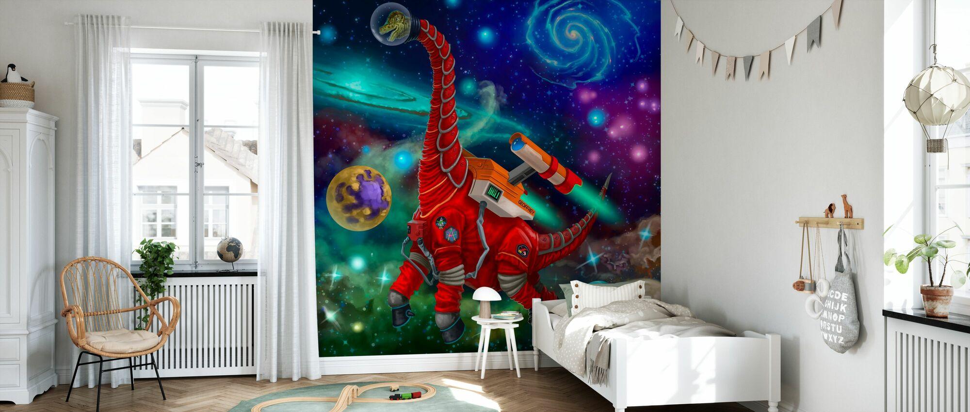 Giraffititan Astronaut - Wallpaper - Kids Room