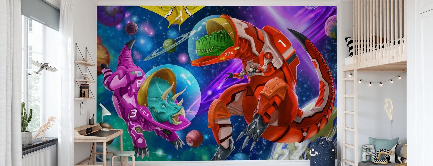 Dinos spaziali - Carta da parati - Camera dei bambini