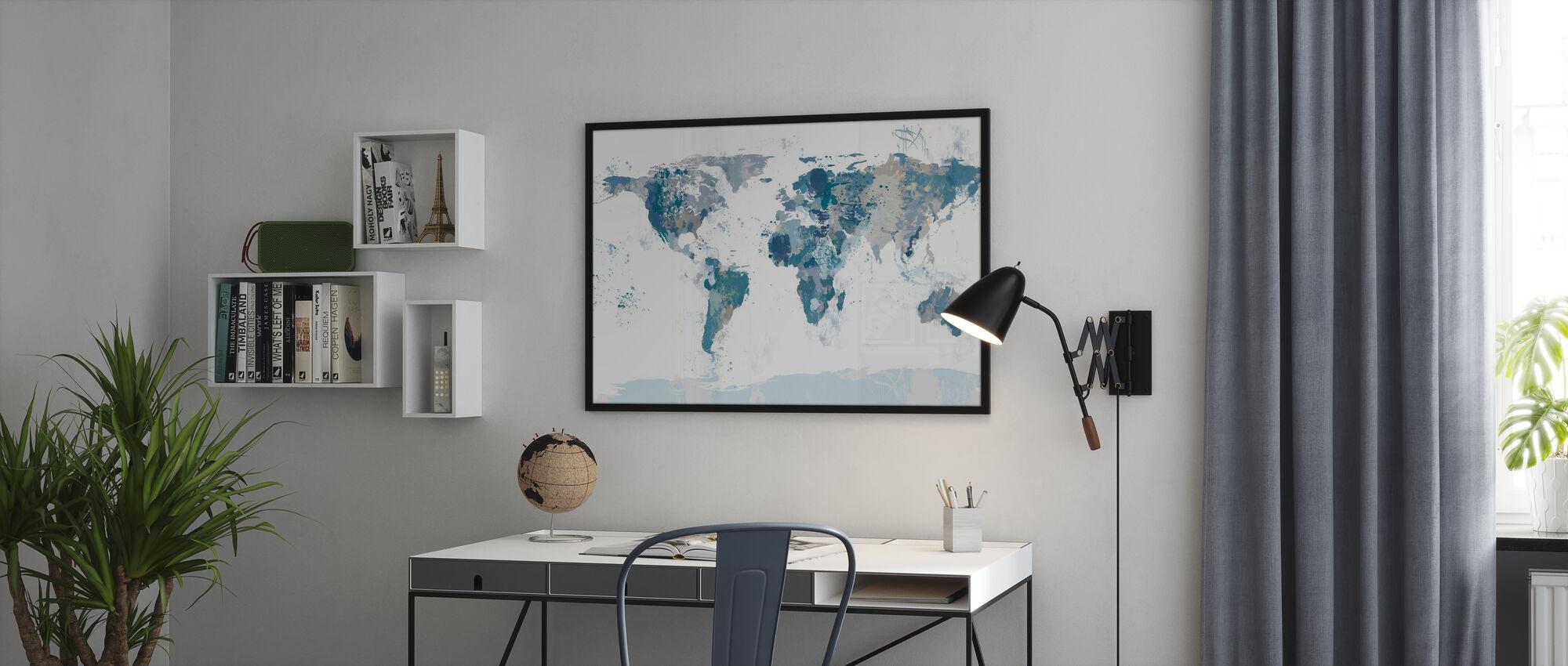 Splash World Map - Poster - Office