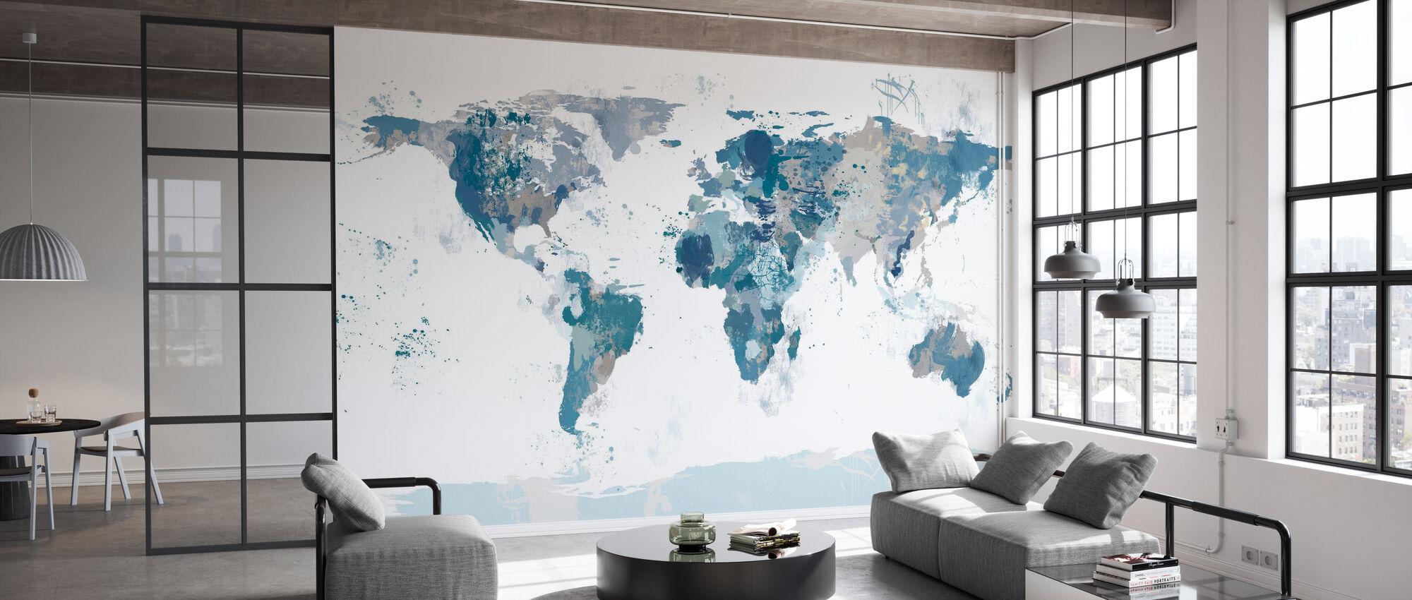 Mapa del Mundo de Splash - Papel pintado - Oficina