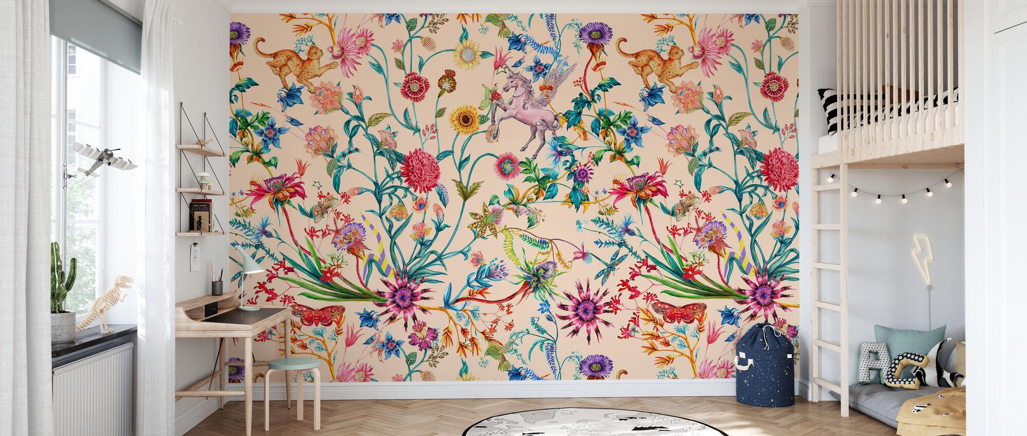 Daydreaming - Peach - Wallpaper - Kids Room