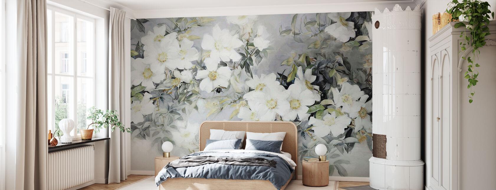 Roses et Pions - Papier peint - Chambre