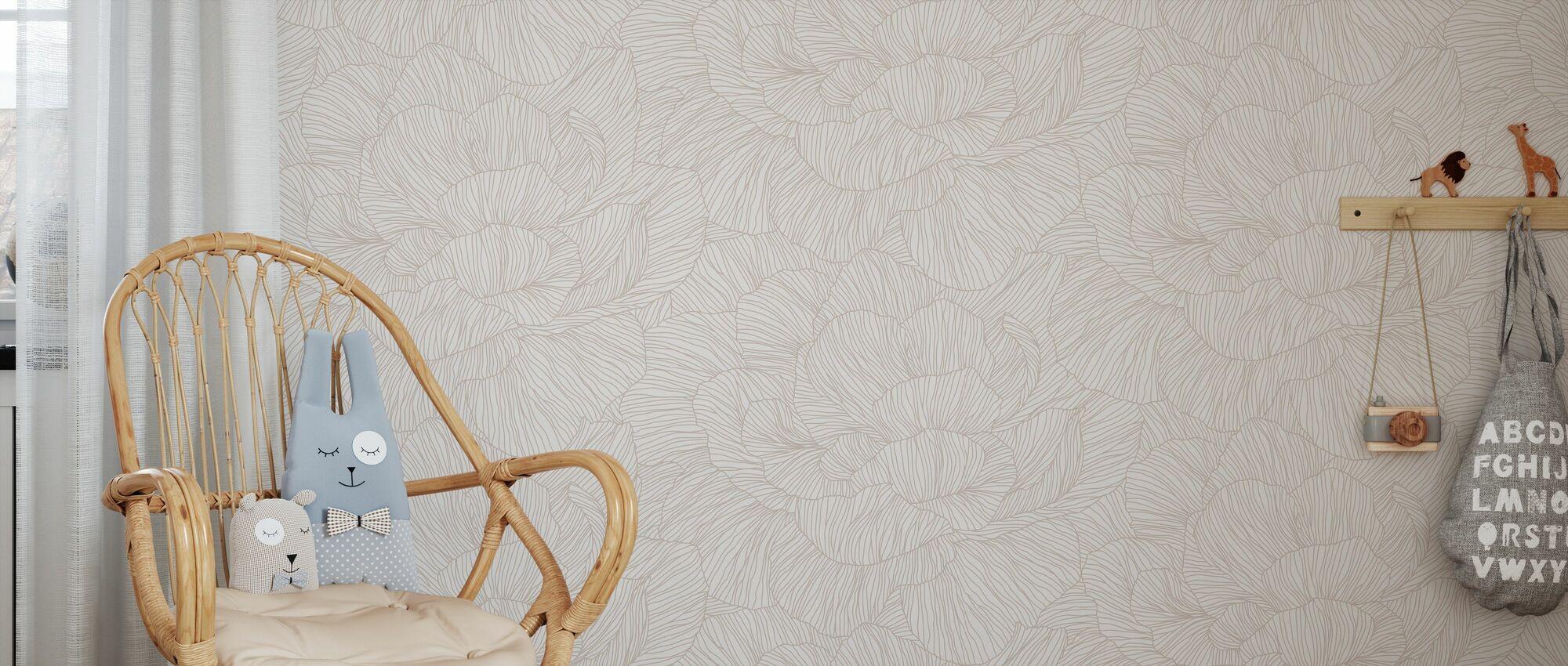 Rose - Winter Garden - Wallpaper - Kids Room