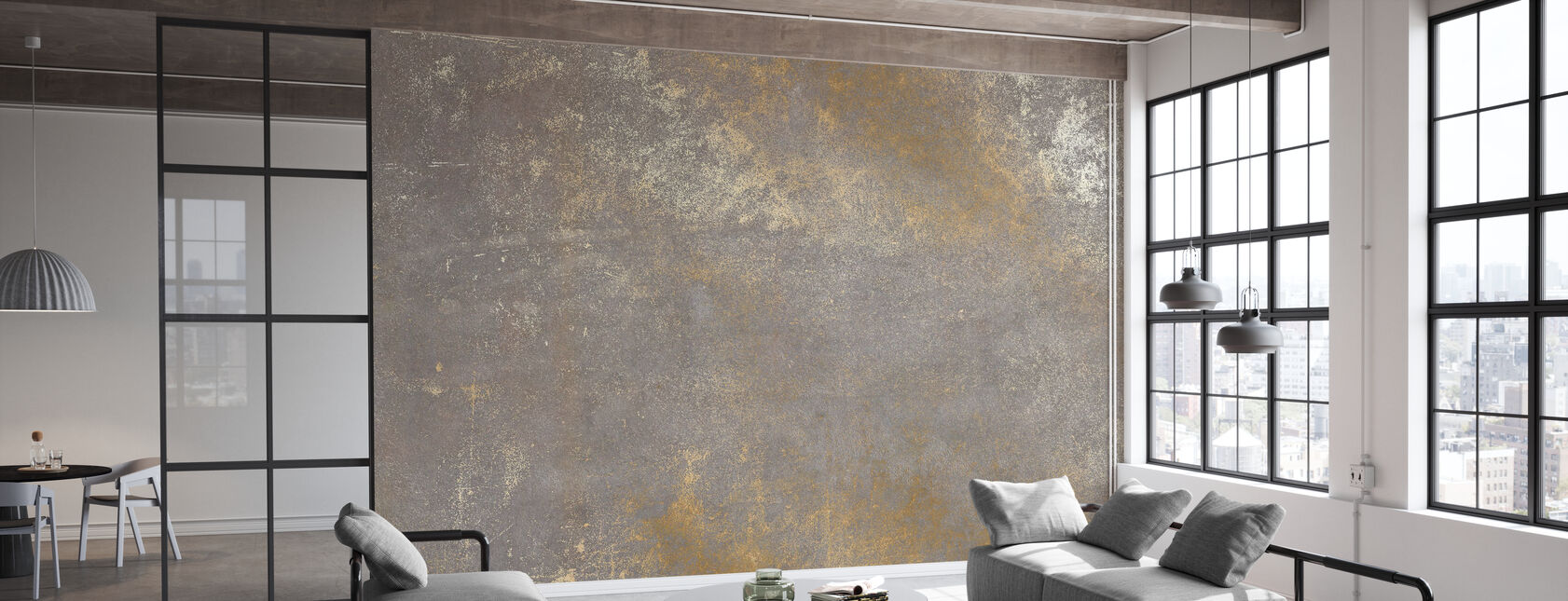 Gold auf Betonmauer - Tapete - Büro